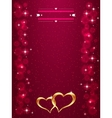 Bright Valentine s day background with golden vector image