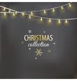 Christmas design with light garland vector image