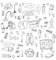 Element education big doodle set vector image