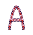 Letter A made from United Kingdom flags vector image