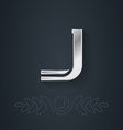 Letter J Template for company logo with monogram vector image