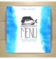 Seafood menu design with fish vector image
