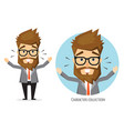 surprised shocked businessman vector image