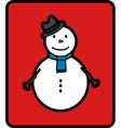 Basic snowman vector image vector image