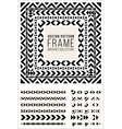 Geometric Decorative Frame Triangle Rhombus vector image