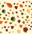 colorful leaf background eps10 vector image vector image