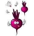Cartoon beetroot vegetable vector image