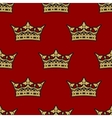 Golden crown seamless background pattern vector image