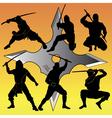 group of Ninja vector image vector image