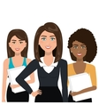 elegant businesswomen isolated icon design vector image