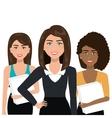 elegant businesswomen isolated icon design vector image