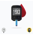 Glucometer pharmacy medical measuring portable vector image