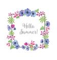 Floral Frame Summer Greeting Card Design T-shirt vector image vector image