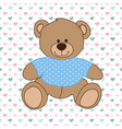 blue bear toy vector image
