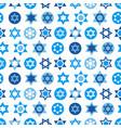 blue star of david symbols collection vector image