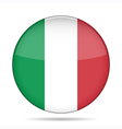 button with flag of Italy vector image