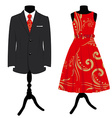 Formal dress set vector image