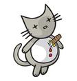 heartache kitty vector image vector image