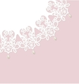 lace with pearls vector image