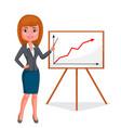 cartoon business woman vector image vector image