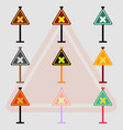 collection of awareness signs with an x sign road vector image
