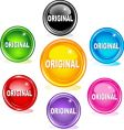 original buttons vector image vector image