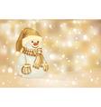 snowman golden vector image