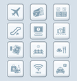 Airport icons - TECH series vector image vector image