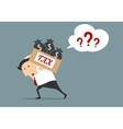 Businessman with tax box flat concept vector image