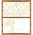 Save the day card templates vector image