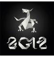 origami dragon 2012 year vector image