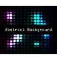 Abstract disco glowing of background vector image