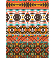 Aztec colorful geometric seamless pattern vector image