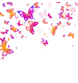 background of flying butterflies vector image
