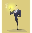 Big idea concept with man and light bulb vector image