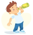 boy drinking soft drink vector image