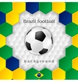 Bright soccer background with ball Brazilian vector image
