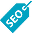 Business search engine optimization tag icon vector image