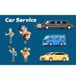 Car repair service concept banner vector image