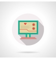 Cardiology online flat color design icon vector image