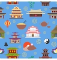 Chinese house seamless pattern vector image