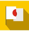 Flag of Japan icon flat style vector image