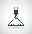 icons of industrial hook with reinforced concrete vector image