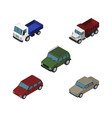 isometric automobile set of auto armored car and vector image