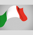 italy flag on transparent background vector image