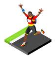 Marathon Runners Running Man 3D Isometric Image vector image