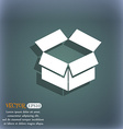 Open box icon On the blue-green abstract vector image