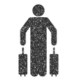 Passenger Luggage Icon Rubber Stamp vector image