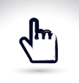 Point hand gesture created with real hand drawn vector image