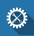 service tool screwdriver spanner and cogwheel vector image